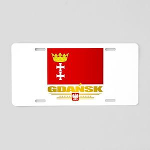 Gdansk Aluminum License Plate