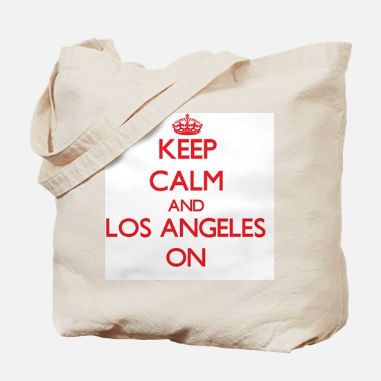 Keep Calm and Los Angeles ON Tote Bag