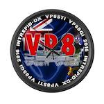 VP8_Logo2 Large Wall Clock