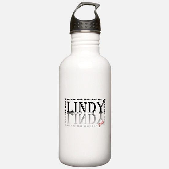 Lindy Hop! black & grey Water Bottle