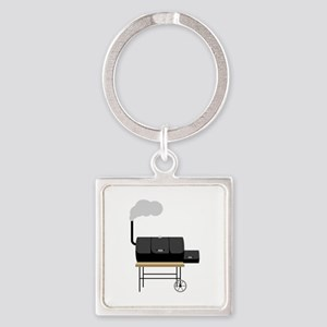 Barbeque Smoker Keychains