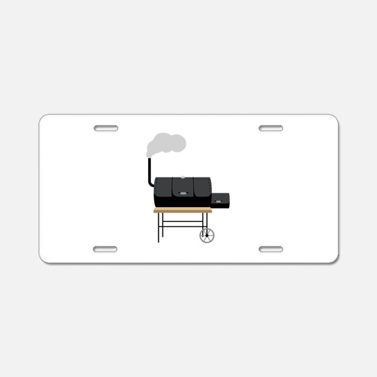 Barbeque Smoker Aluminum License Plate