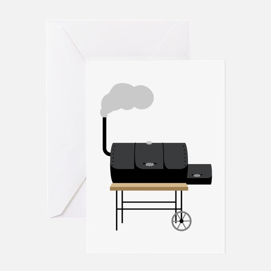 Barbeque Smoker Greeting Cards