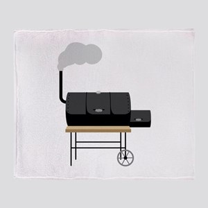 Barbeque Smoker Throw Blanket