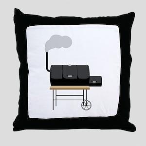 Barbeque Smoker Throw Pillow