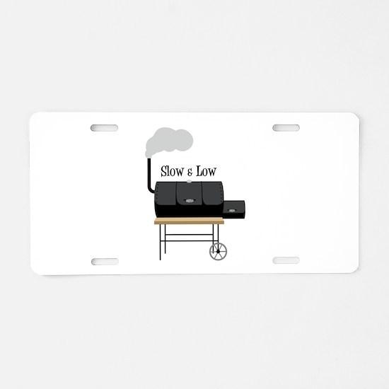 Slow & Low Aluminum License Plate