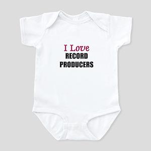I Love RECORD PRODUCERS Infant Bodysuit