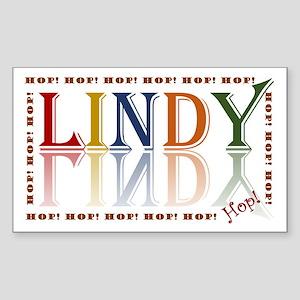 Lindy Hop! retro color Sticker