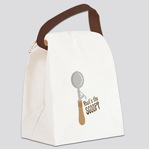 Ice Cream Canvas Lunch Bag
