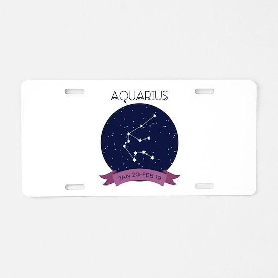 Aquarius Constellation Aluminum License Plate
