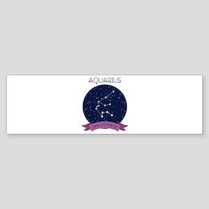 Aquarius Constellation Bumper Sticker