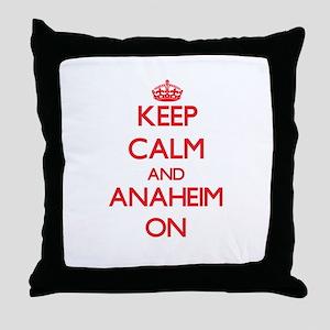 Keep Calm and Anaheim ON Throw Pillow