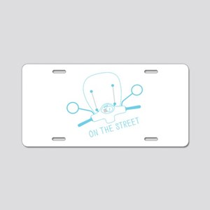 On The Street Aluminum License Plate