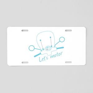Lets Motor Aluminum License Plate