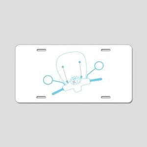 Scooter Outline Aluminum License Plate
