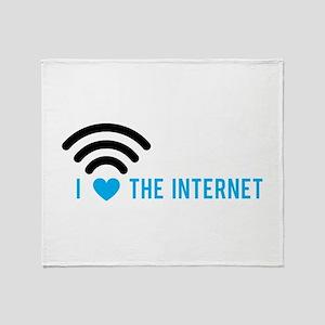 Love The Internet Throw Blanket