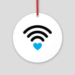Wifi Heart Ornament (Round)
