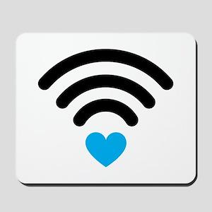 Wifi Heart Mousepad