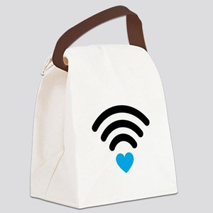 Wifi Heart Canvas Lunch Bag
