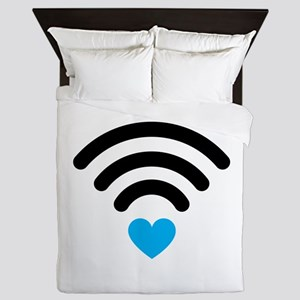 Wifi Heart Queen Duvet