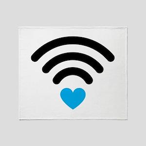 Wifi Heart Throw Blanket