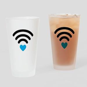 Wifi Heart Drinking Glass