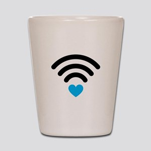 Wifi Heart Shot Glass