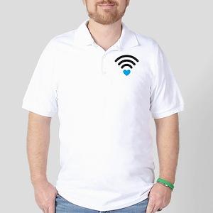 Wifi Heart Golf Shirt