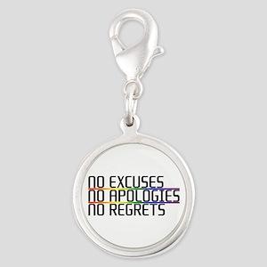 No Excuses, No Apologies, No Regrets Silver Round