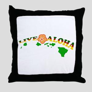 Live Aloha Throw Pillow