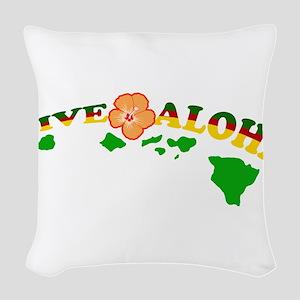 Live Aloha Woven Throw Pillow