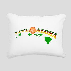 Live Aloha Rectangular Canvas Pillow