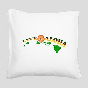 Live Aloha Square Canvas Pillow