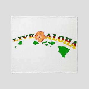 Live Aloha Throw Blanket