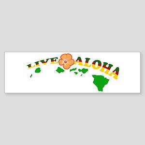 Live Aloha Bumper Sticker