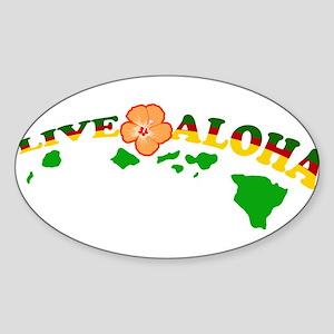 Live Aloha Sticker