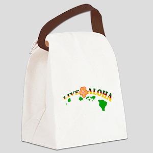 Live Aloha Canvas Lunch Bag