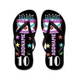 10th birthday girl cup Flip Flops