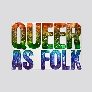Rainbow Queer as Folk Rectangle Magnet