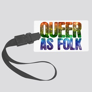 Rainbow Queer as Folk Large Luggage Tag