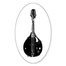 Mandolin Sticker (Oval)