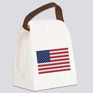 Bones and Heart Prints American F Canvas Lunch Bag