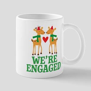 Christmas Engagement Engaged Mugs