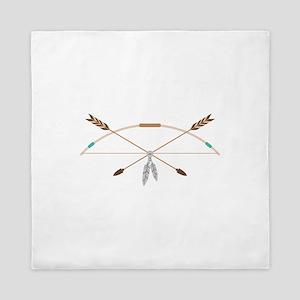Native American Archery Bow Arrows Queen Duvet