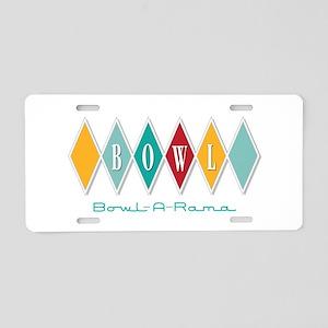 Bowl-A-Rama Aluminum License Plate