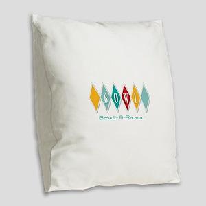 Bowl-A-Rama Burlap Throw Pillow