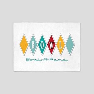 Bowl-A-Rama 5'x7'Area Rug