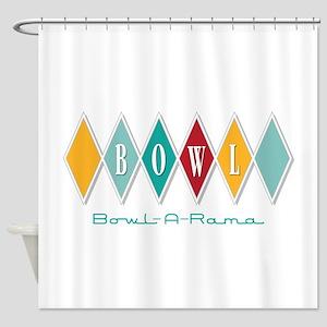 Bowl-A-Rama Shower Curtain