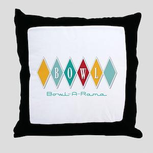 Bowl-A-Rama Throw Pillow
