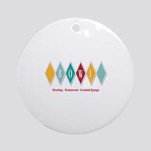 Bowling Sign Ornament (Round)